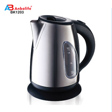 Anbo Cheaper 360 degree Hot selling 1.7L High Quality Stainless Steel Electrical Kettle