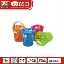 Panier à linge en plastique avec couvercle et handle(32L)