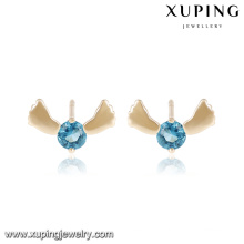 25472 Fashion Elegant Single Stone Cute Foot Jewelry Girl Earring