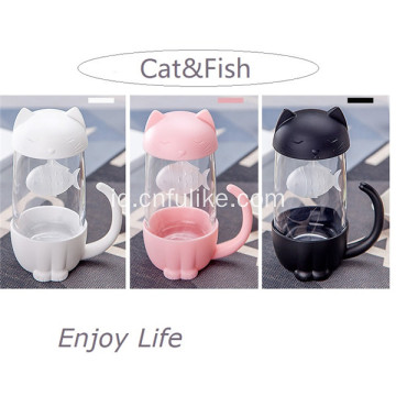Fashion Style Glass Cup dengan Infuser dan Lid