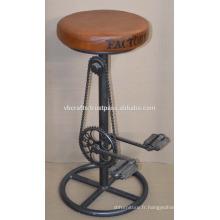 Ensemble de bicyclette industrielle Tabouret en cuir