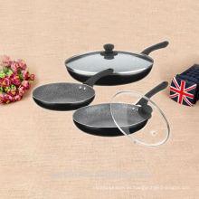 Marbel recubrimiento antiadherente utensilios de cocina china