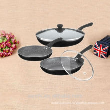 Marbel coating non-stick cookware chinese work