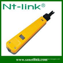 Amarelo Com 110 puntas tipo Krone tipo RJ45 ferramenta de perfuração