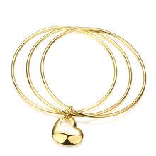 Viele Range 18k Gold Armreif Herz Anhänger Anhänger Armband