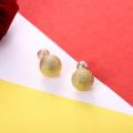 Ronda de Oro Mujeres Oído Pendiente Romántico Niñas Pendientes Oro Color Joyería 2017