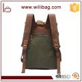 Bolso de la mochila de la mochila de la lona del vintage de alta calidad de las ventas al por mayor