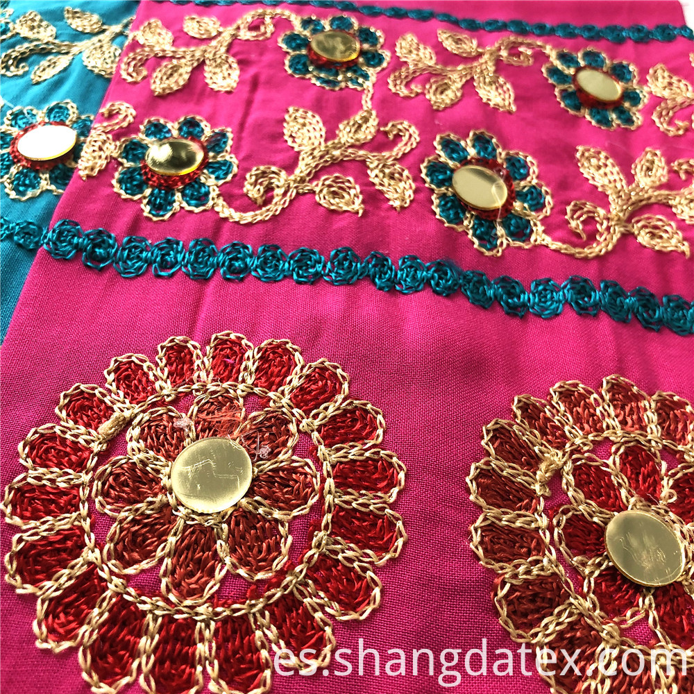 Rayon Four Color Embroidery Fabric