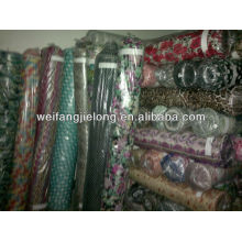 Lote impreso 100% rayon stock lot