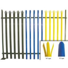 PVC-beschichteter verzinkter Stahl Palisadenzaun (Europa)