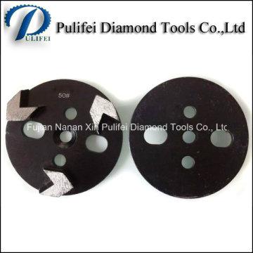 O diamante concreto do assoalho utiliza ferramentas a almofada de moedura de HTC e o disco de moedura trapezoidal
