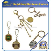 Porte-clés promotionnel personnalisé en métal or