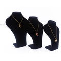 Personalizado camurça vitrine pescoço colar de jóias manequim manequim