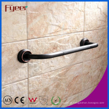 Barras de garra de segurança antiderrapante de bronze acessória do banheiro da série preta de Fyeer