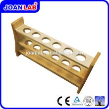 Rack de tubo de teste de madeira JOANLAB para uso em laboratório