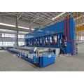 Wide-width door type vulcanizing press of rubber