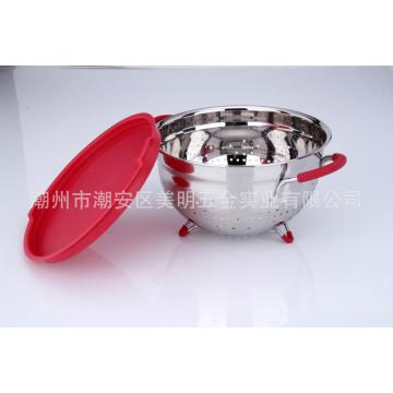 Из нержавеющей стали Кухонные аксессуары корзина с фруктами с Анти-скольжения ручки