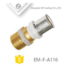 EM-F-A116 Conexión directa enchufe niquelado rosca macho unión tubo de unión