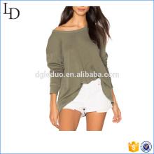 Os hoodies mornos personalizados Slouchy das mulheres abrem a camisola leve traseira