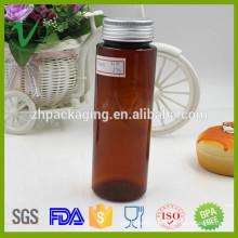 8cc PET FDA grade amber plastic pill bottle with aluminum cap