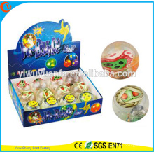 Hot Sell Kid's Toy 65mm Rubber LED Flashing Halloween Water Bouncing Ball