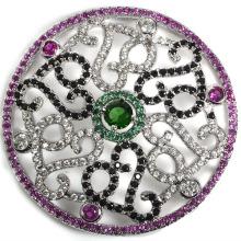 Moda redonda de cobre de plata plateada accesorio de conexión para collar de perlas DIY