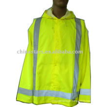 Capa de tempestade avisando segurança reflexiva Rainwear