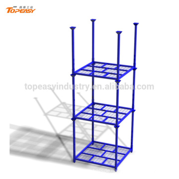Heavy duty movable storage rack for warehouse