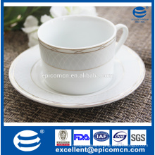 china ceramic tea ware, gold decorated porcelain coffee cup&saucer