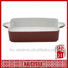 Stoneware bakeware pan, roasting pan