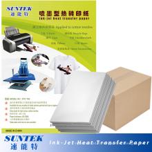 Papier d'impression thermique de presse thermique de papier de transfert de couleur légère