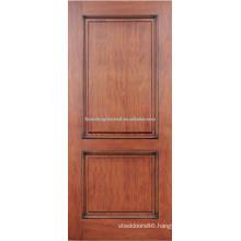 2- panel red oak hardwood door design
