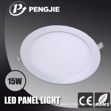 15W LED blanco luz del panel (redonda)