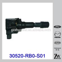 Bobina de ignição automática para Honda Fitt 30520-RB0-S01