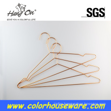 Fashion wire hanger copper clothes hanger