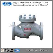 Aço de carbono flangeado conectar válvula de retenção de levantamento PN16