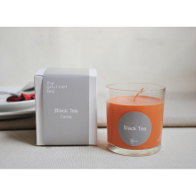 Vela de cristal perfumada de lujo personalizada con caja blanca