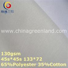 Tela de la guarnición del popelín del algodón del poliéster para la materia textil de la camisa (GLLML364)
