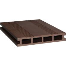 Platelage composé en plastique de bois creux (HLM164)