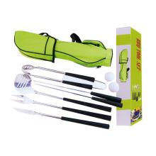 8pcs ensemble de golf BBQ avec sac de transport