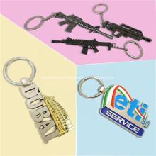 Porta-chaves de metal esmaltado bonito e luxuoso de metal