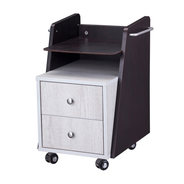 Salon Wood Cosmetology Rolling Cart