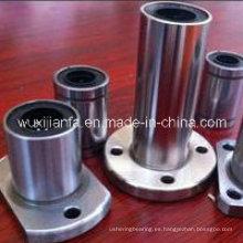 Retenedor de acero brida Circular movimiento lineal buje rodamiento con jaula de acero