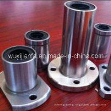 Steel Retainer Circular Flange Linear Motion Bushing Bearing with Steel Cage