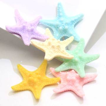 Bunte Harz Seastar Miniatur Cabochon Fairy Garden Home Häuser Dekoration Mini Craft Micro Landschaftsbau Decor DIY Zubehör