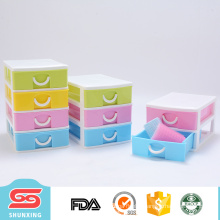 Colorful design multipurpose 4 layer cheap plastic storage drawers with best price