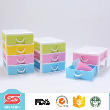 Красочный дизайн многоцелевой 4 слоя дешевые пластиковые ящики для хранения с самым лучшим ценой