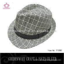 Billig hellgrau Fedora Hut für Männer
