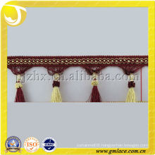 Cheap Curtain tassel fringe used to cushions wholesale trimming off colorful