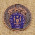 A polícia feita sob encomenda da polícia de New York da cidade do metal desafia a moeda para a venda